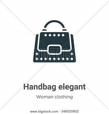 Handbag elegant icon isolated on white background from woman clothing collection. Handbag elegant ic