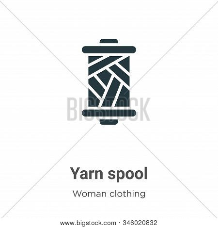 Yarn Spool Vector Icon On White Background. Flat Vector Yarn Spool Icon Symbol Sign From Modern Woma