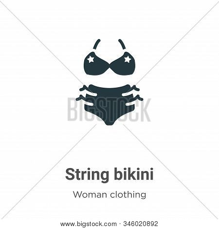 String bikini icon isolated on white background from woman clothing collection. String bikini icon t
