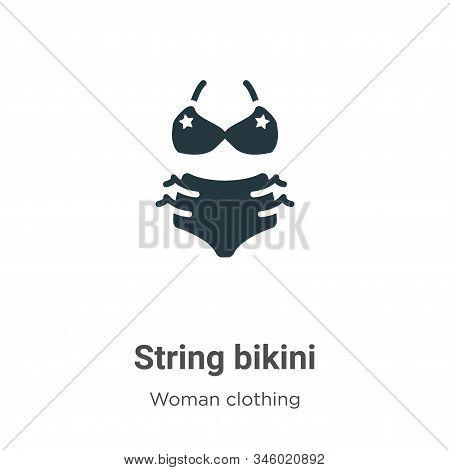 String Bikini Vector Icon On White Background. Flat Vector String Bikini Icon Symbol Sign From Moder