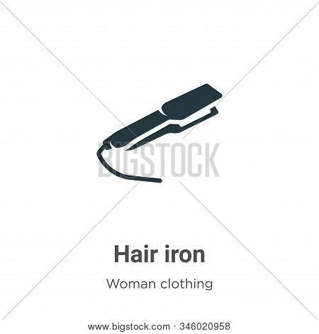 Hair iron icon isolated on white background from woman clothing collection. Hair iron icon trendy an