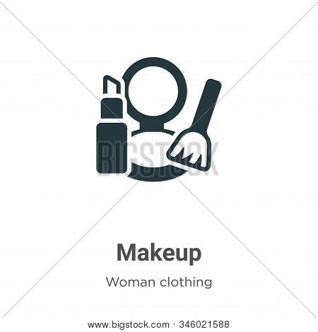 Makeup icon isolated on white background from woman clothing collection. Makeup icon trendy and mode