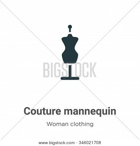 Couture Mannequin Vector Icon On White Background. Flat Vector Couture Mannequin Icon Symbol Sign Fr