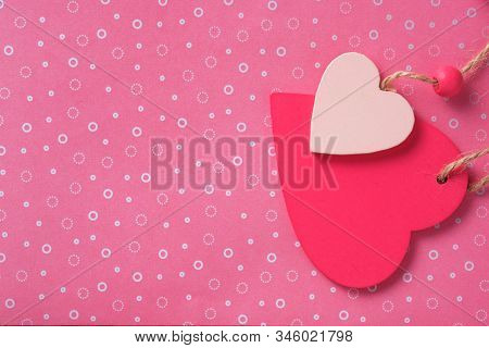Colorfull Valentines Day Paper Background With Heart