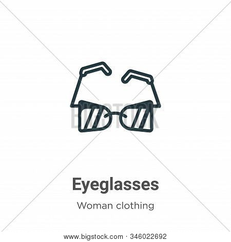 Eyeglasses icon isolated on white background from woman clothing collection. Eyeglasses icon trendy
