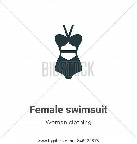 Female swimsuit icon isolated on white background from woman clothing collection. Female swimsuit ic