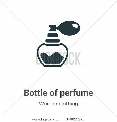 Bottle of perfume icon isolated on white background from woman clothing collection. Bottle of perfum