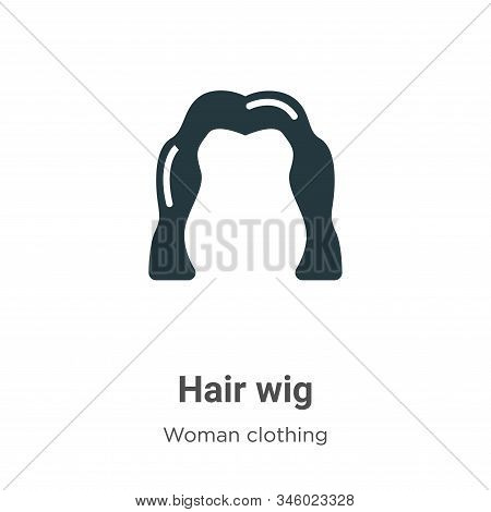 Hair wig icon isolated on white background from woman clothing collection. Hair wig icon trendy and