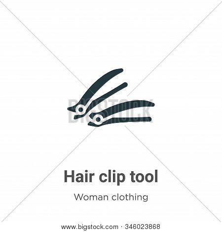 Hair clip tool icon isolated on white background from woman clothing collection. Hair clip tool icon