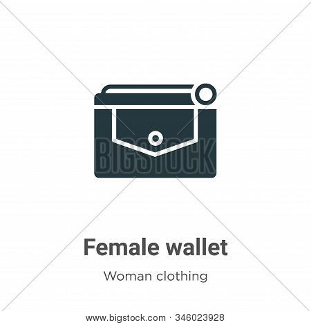 Female wallet icon isolated on white background from woman clothing collection. Female wallet icon t