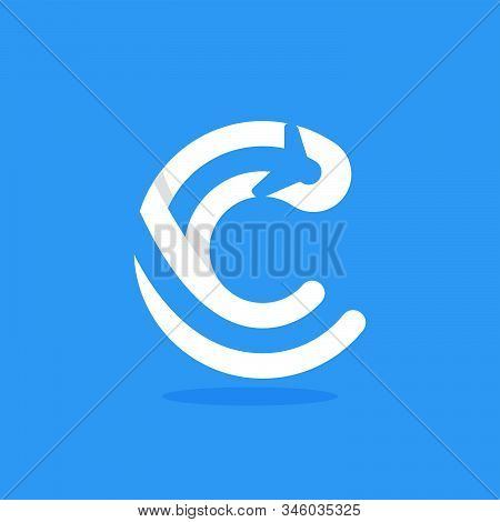 N Letter With Plane And Airline Inside. Vector Typeface For Flight Labels, Travel Headlines, Deliver