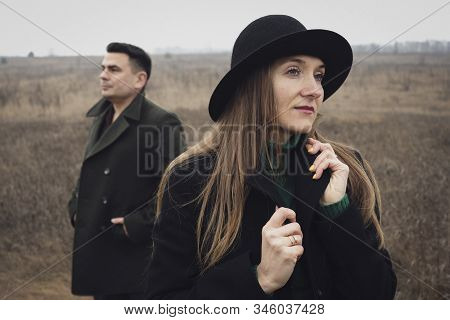 Woman Looking Away After A Fight With Her Partner