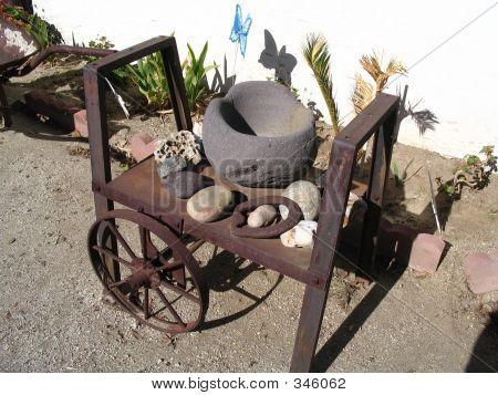 Stoneware And Cart