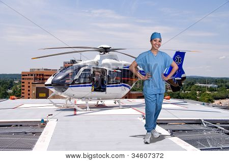 Doctor And Life Flight Helecopter
