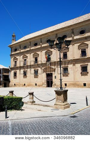 View Of Chains Palace Used As The Town Hall, Ubeda, Jaen Province, Spain.