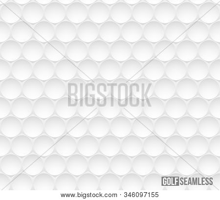 Golf Ball Vector Seamless Pattern. Sport Equipment With Round Dents. Golfball Closeup Texture. Round