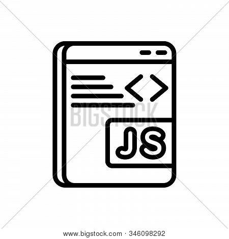 Black Line Icon For Javascript Programming Software Coding Java