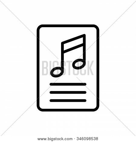 Black Line Icon For Lyric  Studio Writing Music Playlist Musical Technology