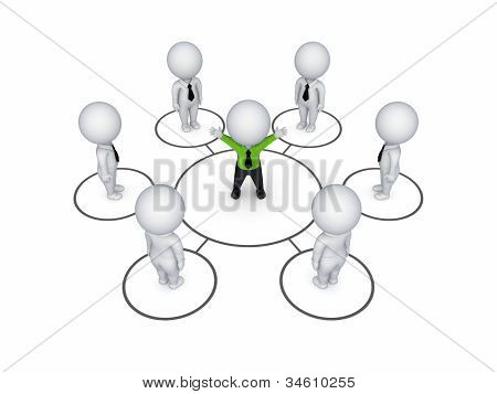 Biusiness network concept.