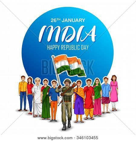 Illustration Of Indian Army Soilder Nation Hero On Pride Background For Happy Republic Day Of India