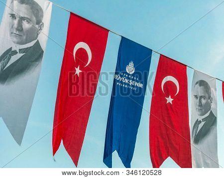 Istanbul, Turkey - October 29, 2019: Istanbul Metropolitan Municipality Celebrating The Republic Day