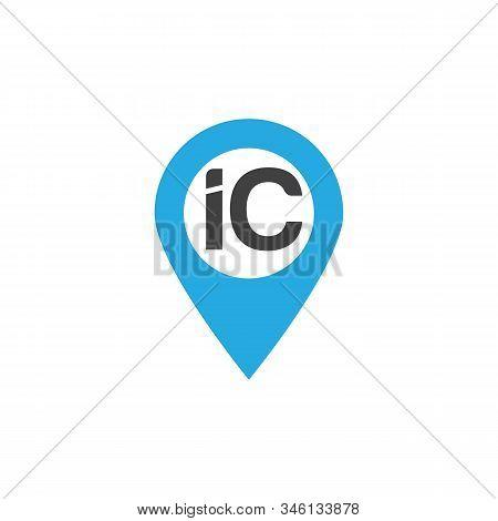 Ic Letter Logo With Black Lines Design. Line Letter Symbol Vector Illustration.