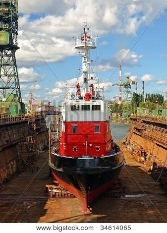 Fire-boat In Dock