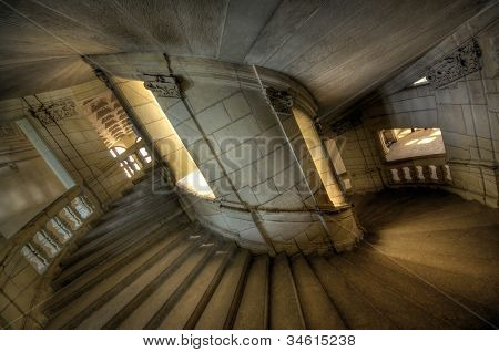 Spiral Staircase in Chambord castle