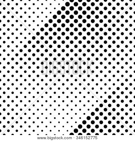 Seamless Circle Pattern Background - Abstract Black And White Vector Design