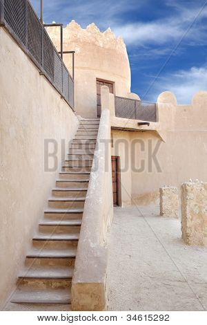 A stair to eastern tower of Riffa Fort Bahrain