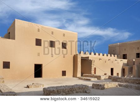 Room designed at two levels in Riffa Fort Bahrain
