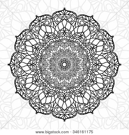 Abstract Mandala Unique Texture Use For Wallpaper Print And Decor Element, Ramadan Kareem, Ied Muabr