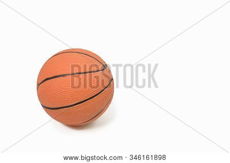 One Basketball Ball In Orange On A White Background
