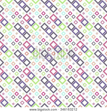 Seamless Diagonal Square Pattern Background - Abstract Geometrical Vector Design