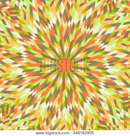 Colorful Dynamic Burst Mosaic Pattern Background Design - Abstract Psychedelic Hypnotic Circular Vec