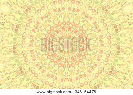 Abstract Geometrical Dynamic Radial Pattern Webpage Background - Psychedelic Floral Vector Art From