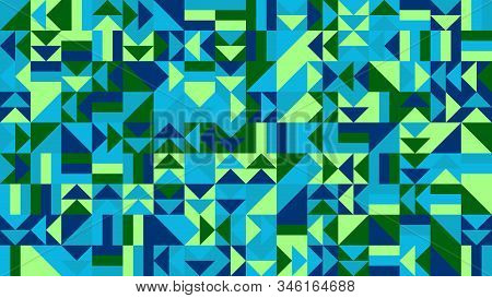 Mosaic Pattern Desktop Background - Abstract Colorful Vector Design