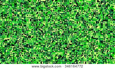 Chaotic Colorful Geometrical Mosaic Pattern Hd Background - Abstract Random Vector Graphic Design