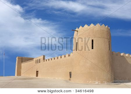 Eastern tower and South Eastern wall of Riffa Fort Bahrain