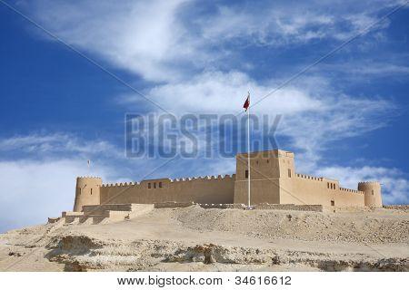 Riffa fort from the direction of Hunanaiya valley