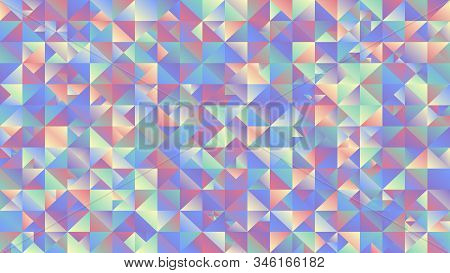 Gradient Multicolored Mosaic Triangle Desktop Background - Polygonal Abstract Vector Design