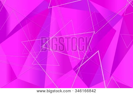 Random Gradient Geometrical Triangle Polygon Web Page Background - Geometric Abstract Vector Graphic