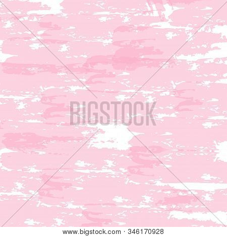 Brush Strokes Retro Background. Dirty Cracked Wall Texture. Concrete, Chalk Print Design Pattern. Lo