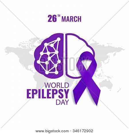 Vector Illustration On The Theme World Epilepsy Day. Purple Day. For A Poster And Banner.
