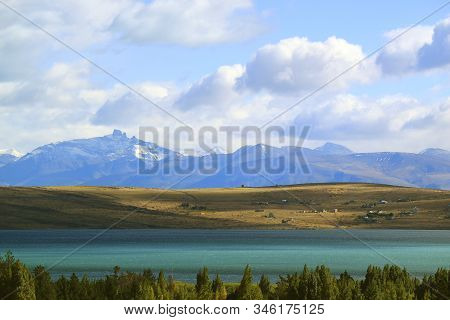 Lago Argentino Or Argentino Lake View From The Town Of El Calafate, Patagonia, Argentina