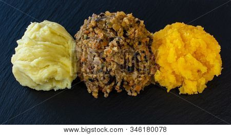 Vegetarian Haggis With Neeps And Tatties, Alternative Burns Supper