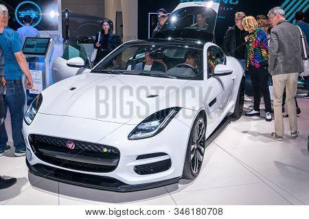 Frankfurt-september 19: Jaguar F-type R Coupe At The Frankfurt International Motor Show On September