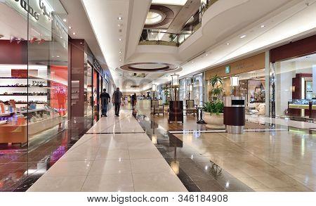 Doha, Qatar - Nov 21. 2019. Interior Lagoon Mall - Shopping Center