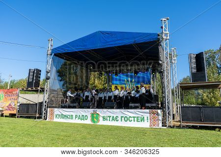 Choir On Stage At The Festival, 22, 09, 2019 Ukraine Kulikov, Sings Womens Choir On Village Day, Vil