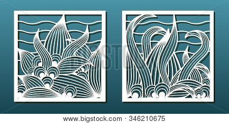 Set Of Laser Cut Emplates. Templates For Wood Or Metal Cutting, Paper Art, Panel Decor, Stencil For
